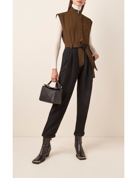 Two Tone Twill Straight Leg Jumpsuit by Loewe