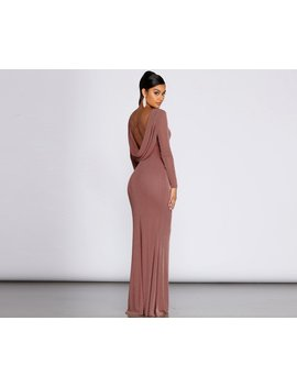 Kyra Glitter Long Slim Gown by Windsor
