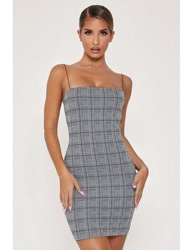 Mia Thin Strap Bodycon Mini Dress   Check by Meshki