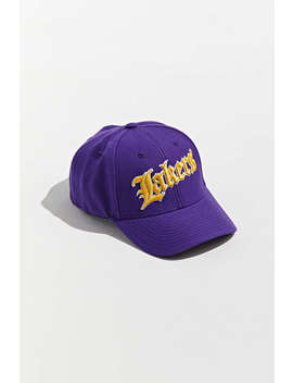 Mitchell & Ness Old English Los Angeles Lakers Snapback Hat by Mitchell &Amp; Ness