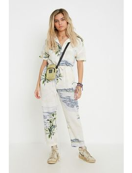 Uo Cowabunga Printed Zip Through Jumpsuit by Urban Outfitters