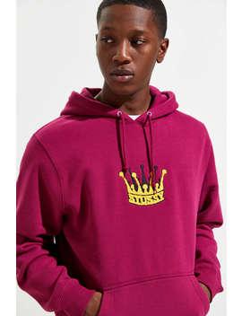 Stussy Chenille Crown Applique Hoodie Sweatshirt by Stussy