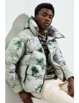 Alpha Style Mallard Tie Dye Padded Down Puffer Coat by Alpha Style