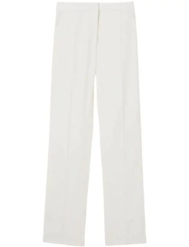 Satin Stripe Detail Wool Tailored Trousers by Burberry