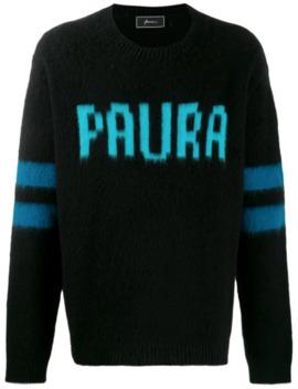 Intarsien Pullover Mit Logo by Paura
