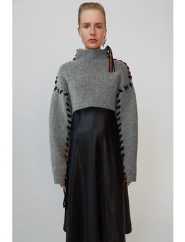 Mock Neck Sweater Grey Melange by Acne Studios