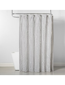 Stripe Shower Curtain Gray/White   Project 62™ by Project 62