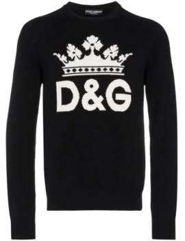 Intarsia Logo Cashmere Sweater by Dolce & Gabbana