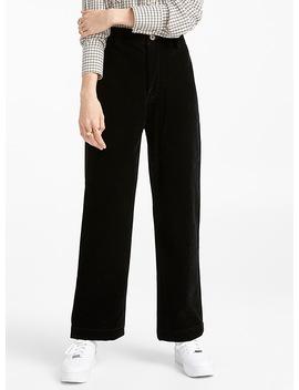 Le Pantalon Taille Haute Suédé by Twik
