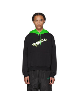 Black Bicolor 'shield' Hoodie by Resort Corps