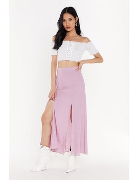 Gingham Later Slit Maxi Skirt by Nasty Gal