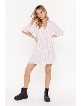 My Guiding Stripe Relaxed Mini Dress by Nasty Gal