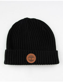 Timberland Ribbed Watch Cap Black Mens Beanie by Timberland