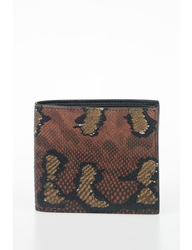 Snakeskin Wallet by Bottega Veneta