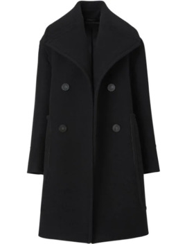 Wool Oversized Pea Coat by Burberry