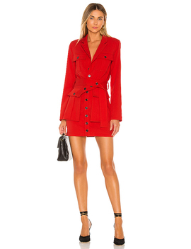 The Patreace Mini Dress In Scarlet Red by L'academie
