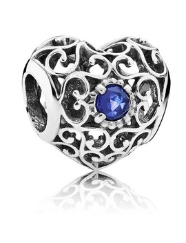 September Signature Heart Birthstone Charm 791784 Ssa by Pandora