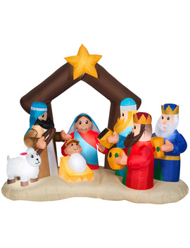 Holiday Time 6.5ft Nativity Inflatable by Holiday Time
