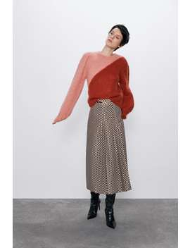 Limited Edition Colour Block Sweater by Zara