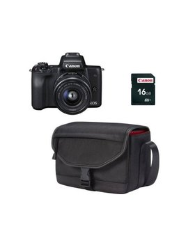 Kit Máquina Fotográfica Mirrorless Canon M50 + 15 45 Mm (24.1 Mp   Sensor: Aps C   Iso: 100 A 51200) by Worten