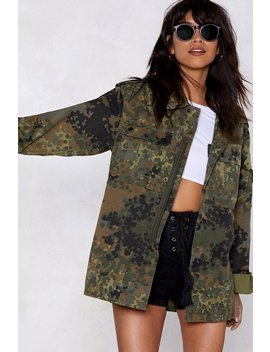 Veste Camouflage Là Tu Me Vois by Nasty Gal