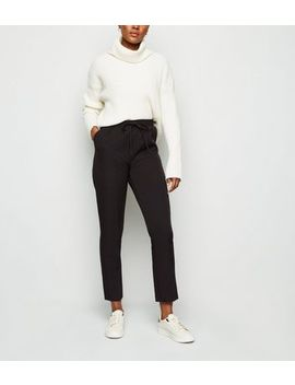 Black Crepe Joggers by New Look