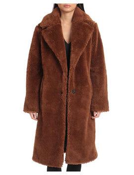 Avec Les Filles Teddy Faux Fur Coat by Avec Les Filles
