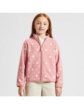 Girls Fleece Printed Zipped Jacket by Uniqlo