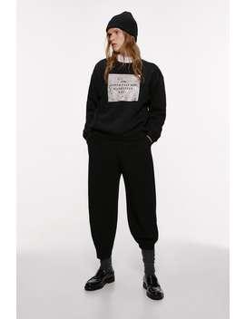 Sweatshirt Med Text by Zara