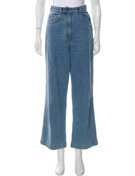 High Rise Wide Leg Jeans by Nanushka