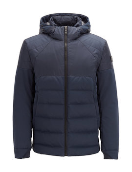 Water Repellent Down Jacket In Laminated Mixed Fabric Water Repellent Down Jacket In Laminated Mixed Fabric by Boss