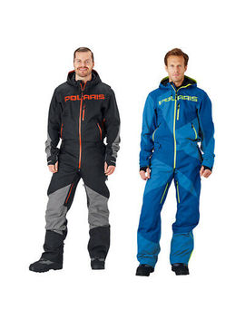 Polaris Men's Adjustable One Piece Snow Monosuit Uninsulated Shell 3 M Reflective by Ebay Seller