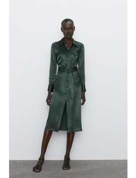 Robe Mi Longue SatinÉe by Zara