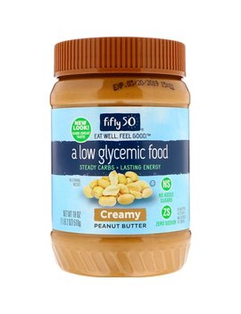 Fifty 50, Low Glycemic Peanut Butter, Creamy, 18 Oz (510 G) by Fifty 50