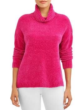 Women's Chenille Turtleneck by Time And Tru