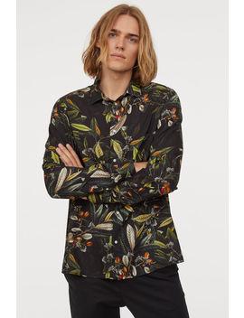 Viskoz Gömlek Slim Fit by H&M