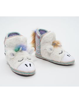Muk Luks Critter Slipper Boot With Faux Fur by Muk Luks