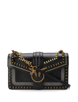 Love Studded Shoulder Bag by Pinko