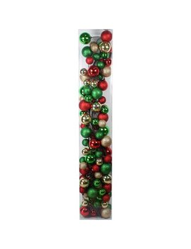 Holiday Time Christmas Ornaments 8.5' Shatterproof Garland, Traditional by Holiday Time