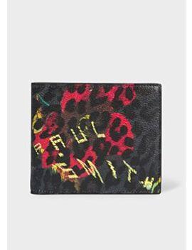 Men's 'leopard Mix' Print Leather Billfold Wallet by Paul Smith
