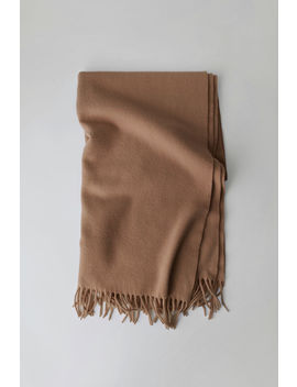 Oversized Wool Scarf  Caramel Brown by Acne Studios