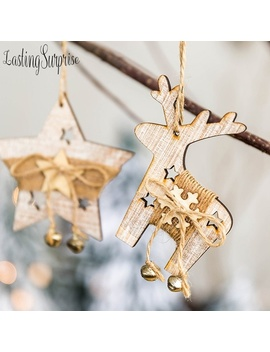 Wooden Ornaments Christmas Star & Tree & Elk Pendant Ornament Christmas Party Gift Ornament Christmas Tree Diy Ornament Hanging by Wish