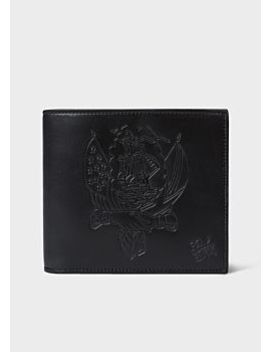 Paul Smith + Mark Mahoney   Men's Black Embossed Ship Leather Billfold Wallet by Paul Smith