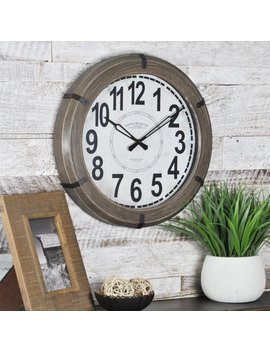 "Jacquiline Modern Rustic 14.5"" Wall Clock by Ebern Designs"
