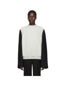 Grey & Black Wool Men's Sweatshirt by Maison Margiela