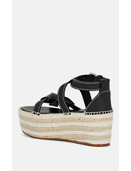 Leather Platform Espadrilles by Loewe