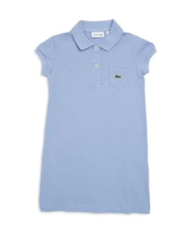 Toddler's, Little Girl's & Girl's Classic Pique Polo Dress by Lacoste