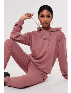 Rose Hoodie And Jogger Co Ord Branded Set by Missguided