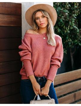 Warm Company Ribbed Knit Sweater   Mauve by Vici