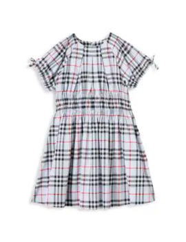 Little Girl's & Girl's Joyce Check Dress by Burberry